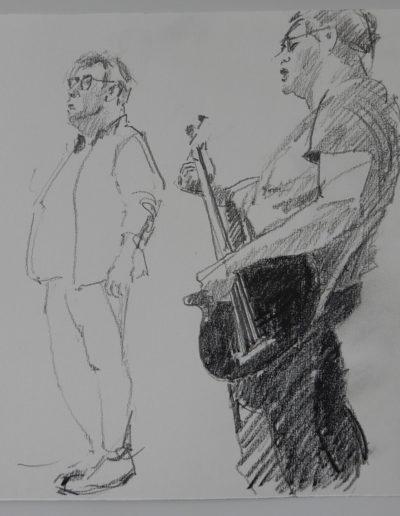 """Walter van Dieren   """"The Grey Lotus"""", met Ed O' Sullivan en Eric van Drunen Littel"""