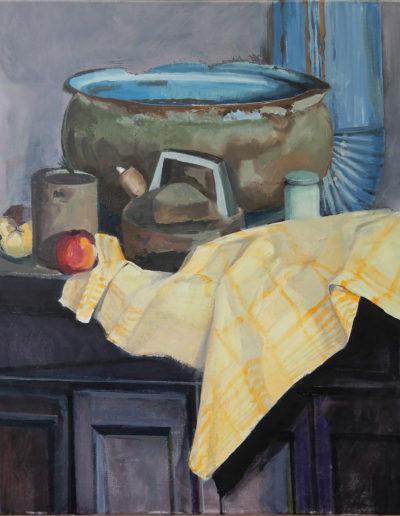 Walter van Dieren   Stilleven met gele doek en appels en servieskom