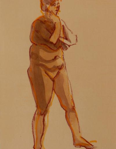 Walter van Dieren   Vrouwelijk model, poserend