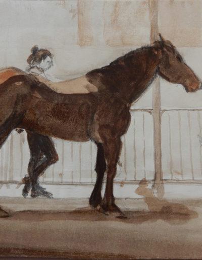 Walter van Dieren   Paard en verzorgster in Riom-és-Montagne
