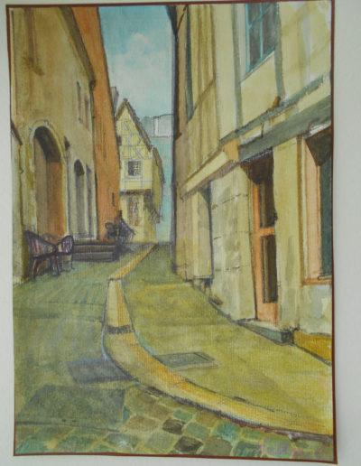 Walter van Dieren   Straatje in Clamecy (Frankrijk)