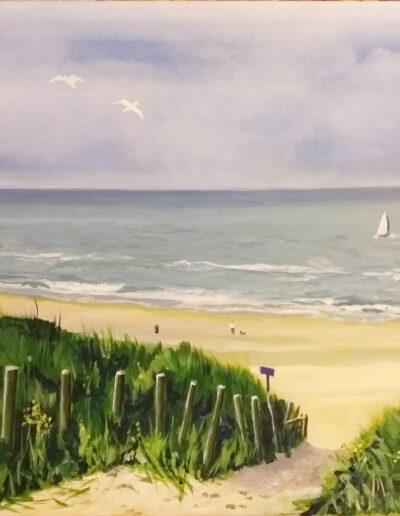 Strand bij Zandvoort